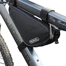 Bike Bicycle Triangle Nylon Saddle Frame Tube Bag Multicolor Choose (black) by Roswheel