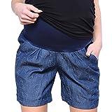 Mija - Kurze Jeans Umstandsshorts