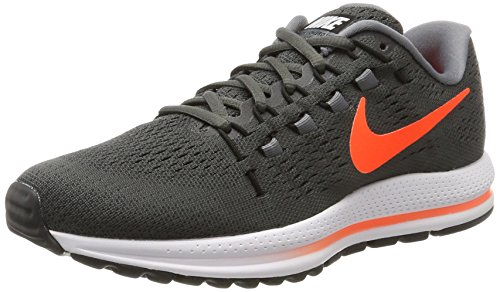 Nike Air Zoom Vomero 12, Herren Laufschuhe, Grau (Midnight Fog/total Rouge Crimson-cool Grey-black), 40 EU (Midnight Bekleidung Fog)