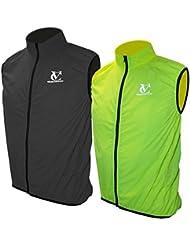 VeloChampion Chaleco para ciclismo Primavera/Otono/Invierno Element Defence Gilet (Fluoro Yellow, XL)