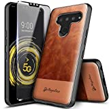 LG V50 ThinQ Case with Tempered Glass Screen Protector