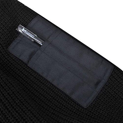 vidaXL Maglione Da Lavoro Per Uomo Blu Marino Filo Acrilico con Tasche Taglia M Nero XXL
