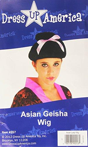Dress Up America 257 - Asiatische Geisha-Perücke, Einheitsgröße, orange