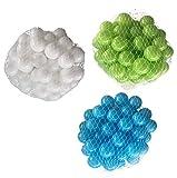 150 Bälle für Bällebad gemischt mix mit türkis, hellgrün und weiß