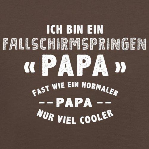 Ich bin ein Fallschirmspringen Papa - Herren T-Shirt - 13 Farben Schokobraun