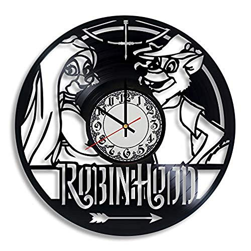 AIYOUBU RobinVinyl Wanduhr - Robin Baby GeschenkRobin Ornament Robin Kostüm Erwachsener Prinz der Diebe Kleinkind Art Arrows