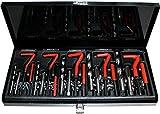 Gewinde-Reparatur-Satz 131-tlg M5 6 8 10 12 Bohrer Gewindeeinsätze Gewindebohrer Buchsen Gewindereparaturwerkzeuge