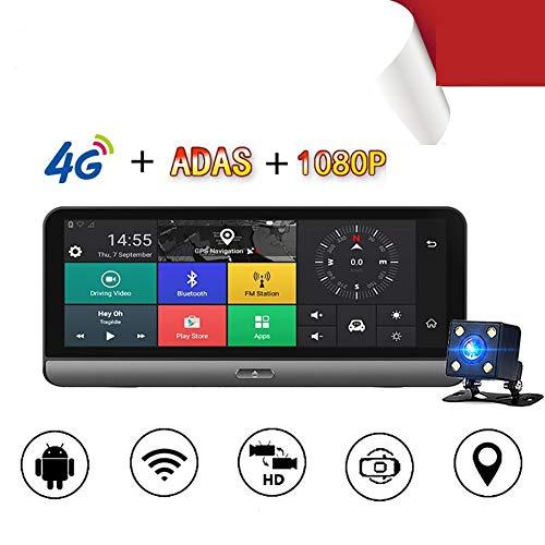 Dashcam Auto Dash Camera 8 Zoll 180 Grad zusammenklappbare Mittelkonsole ADAS4GWIFI intelligentes Navigationsinstrument Android Großbildschirmzyklusvideos 170 ° des Weitwinkelautomaten DVRGPS fährt
