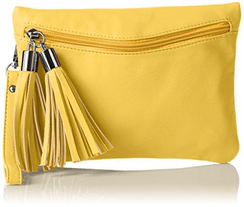 Boscha Damen Bo-1072-Cs Clutch, 1x17x24 cm Gelb (Yellow)