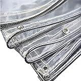 Telo Trasparente Impermeabile Resistente con Bordi Rinforzati, Tettuccio Trasparente in Tela Cerata per Copertura del Suolo/Serra (Dimensioni : 1.7x3m)