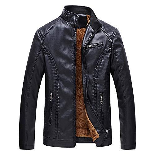 FRAUIT Herbst Winter Herren Ledermantel Lederjacke Stehkragen Cashmere Nachahmung Zipper Vlies Parka Bomber Jagd Jacke Luxus Top Outwear Bluse L-6XL