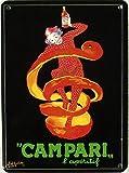 Mini-Blechschild Campari - L´Aperitif, 8 x 11 cm
