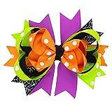 SEWORLD Baby Halloween Kleidung,Niedlich 1 Paar Mode Halloween Kleinkind Baby Kinder Mädchen Bowknot Haarnadel Kopfschmuck(E-orange,3 Jahren-10 Jahren)