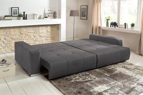 Big Sofa, Mega-Sofa, XXL-Sofa, Kuschelsofa, XXL-Couch, Big Couch, Schlaffunktion, Kissen, grau, Sofa, Couch, Riesensofa