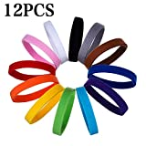 YuamMei 12 Pcs Welpen-Haustier-ID-Halsbänder, einstellbar und wiederverwendbar doppelseitige weiche Klett-Identifikations-Halsbänder für Neugeborene Hundekatze (S, 12 Farben)
