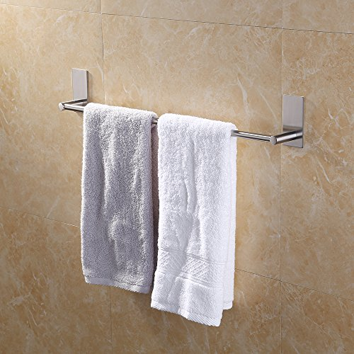 KES Selbstklebende Handtuchstange Handtuchhalter Ohne Bohren aus Gebürstetem Edelstahl 55cm, A7000S55-2