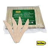 Net4Client 100 x Coltelli Monouso in Legno Coltelli Monouso Eco Stoviglie Monouso Stoviglie Biodegradabili Naturale Ecologico e Compostabile