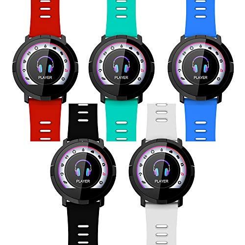 Altsommer FitnessTracker Smart Watch Bluetooth mit Spo2-Test,Pulsuhr Bluetooth,Schrittzähler, Schlafmonitor, Musik-Player-Controller für Android/IOS HTC Samsung Sony Apple (Schwarz)