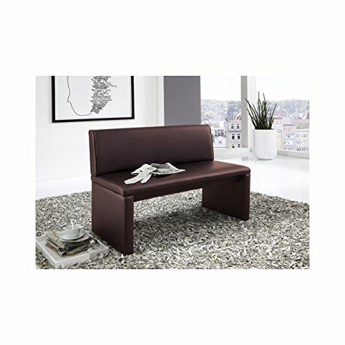 SAM® Esszimmer Sitzbank Family Brown in braun, 160 cm Breite, Sitzbank mit pflegeleichtem SAMOLUX® Bezug, angenehmer Sitzkomfort, frei im Raum aufstellbare Bank mit Rückenlehne