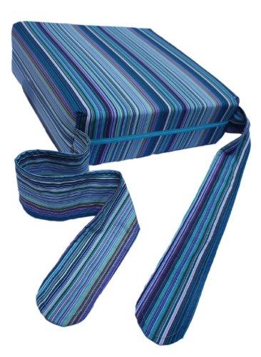 Sitata Bebé Niño Infantil Trona Tronas Asiento Elevador de Coches de Viaje, rayas azules