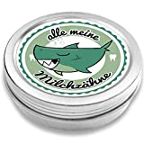 DOCTORS Milchzahndose | Haifisch Henri | für Mädchen und Jungen | Geschenk zur Einschulung, Taufe oder Geburt | Dose für Wackelzahn (Petrol)