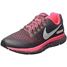 new concept 32b8e 9dc1c Nike Zoom Pegasus 34 Shield (GS), Chaussures de Running Fille
