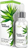 InstaNatural Vitamin C Serum for Face - Best Pure 20% Vitamin C & Hyaluronic Acid Anti-Aging Liquid Facial Serum - With Organic Argan & Rosehip Oil, Vitamin E, Ferulic Acid & Seabuckthorn Oil - 1 OZ
