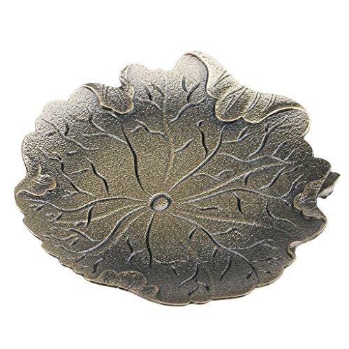 MagiDeal Dessous de Tasse en Alliage Isolation Thermique Forme de Feuille de Lotus pour Verre de Thé Café Idée de Cadeau - Bronze