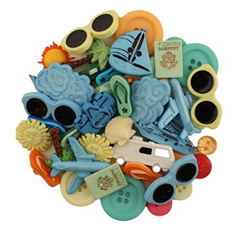 Buttons Galore Summer Vacation Value Button Pack by Buttons Galore -