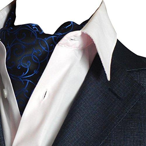 537a91fd1eb8 NiSeng Jacquard Ascot Paisley Corbatas Estrechas Ascot Corbata Vintage Ascot  Cravat para Hombre Multicolor Azul