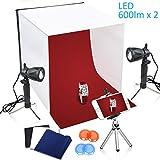 TFJ 40x40cm Table Top Photography Studio Light Continous LED Lighting Photo Shooting Tent
