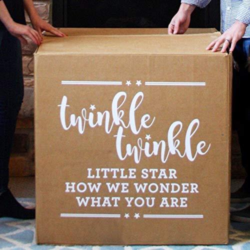 Olivialulu Balloon Box Vinyl Aufkleber für Geschlecht offenbaren Party Decor Twinkle Twinkle Little Star Wandtattoo Box Aufkleber Überraschung Geschenk Az408 (Twinkle Twinkle Party)