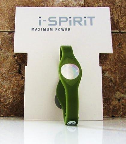 i-spirit Balance Armband Ying und Yang Hologramm für Schutz, innere Ruhe, Energiefluss, Farbe:Oliven Grün, Size:S=16 cm Unisex - Fitness,Freizeit,Sport,Wellness