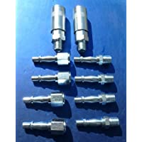 10 Compressor Airline Pneumatic Pipe Stud Coupler & Quick Release Couplings Garage Tools