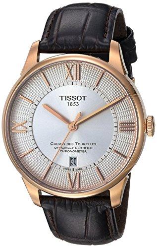 TISSOT Herren-Armbanduhr 42MM Armband Leder BRAUN AUTOMATIK -