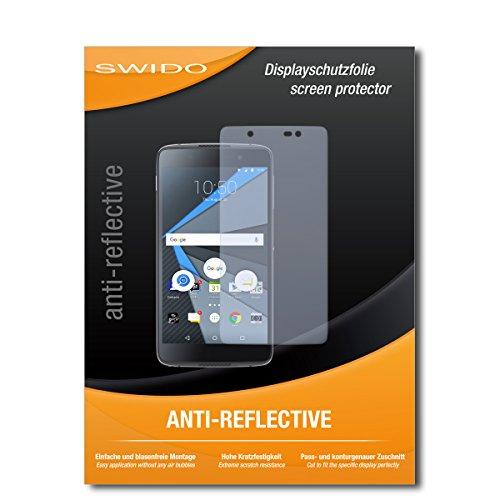 SWIDO Displayschutz für BlackBerry DTEK60 [4 Stück] Anti-Reflex MATT Entspiegelnd, Hoher Härtegrad, Schutz vor Kratzer/Glasfolie, Schutzfolie, Displayschutzfolie, Panzerglas Folie