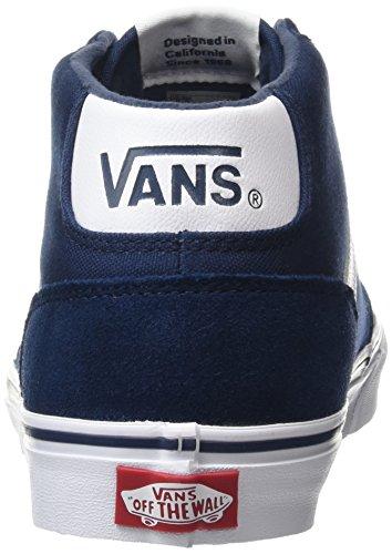 Vans Chapman Mid, Sneakers Hautes Homme Bleu (Suede Canvasdrsblus/wht)