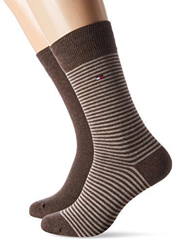 Tommy Hilfiger Herren TH Men Small Stripe Sock 2P , 2er Pack, Braun (Oak 778), 43-46EU (9/11UK)