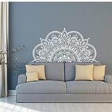 MRQXDP LIVRAISON GRATUITE Sticker mural en vinyle moitié blanc Mandala papier autocollant Yoga amoureux cadeau maison tête de lit décor Design d'intérieur chambre Stickers Art 57x116cm Muursticker