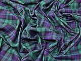 Tartan gebürstete Baumwolle Kleid Stoff arnewood–Meterware