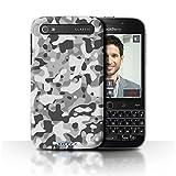 Stuff4 Hülle / Hülle für Blackberry Classic/Q20 / Weiß
