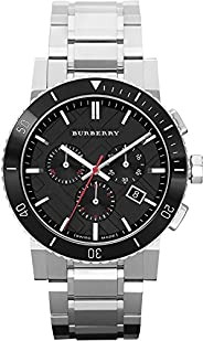 Burberry Mens Quartz Watch, Analog Display and Stainless Steel Strap