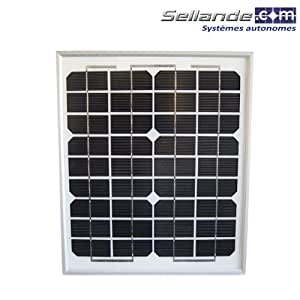panneau solaire 10w 12v monocristallin bricolage. Black Bedroom Furniture Sets. Home Design Ideas