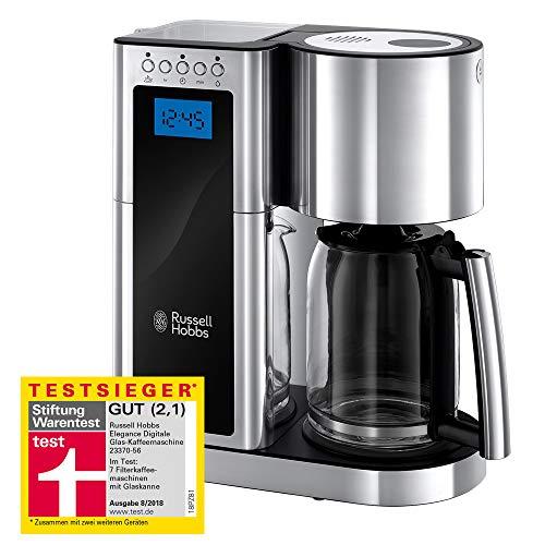 Russell Hobbs 23370-56 Digitale Glas-Kaffeemaschine Elegance, 1.25l, Schnellheizsystem,...