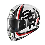 Shark Casque Moto Skwal Cargo WKR, Blanc, Taille M