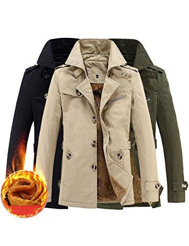 Menschwear Herren Jungen Übergangsjacke Langarm Trenchcoat Winterjacke Wärmemantel Mantel Kurzmantel Einreihig Jack Anzug
