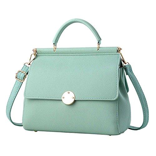 Frauen-Normallack Umhängetasche Mode-Handtasche Green