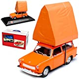 alles-meine.de GmbH Trabant 601 Universal Kombi Orange mit Dachzelt 1964-1990 DDR 1/43 Atlas Modell Auto