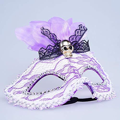 AOLVO LED Masquerade Maske, 7Farbe Luminous Light Up venezianischen Kostüm Maske mit USB wiederaufladbar, Mode Hälfte Gesicht Maske Für Frauen Mädchen in Halloween, Venezianische Pretty Party Abend Ball Ball Maske B