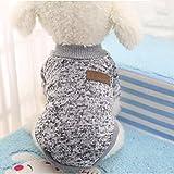Bluelover Hundebekleidung Warm Puppy Outfit Haustier Jacke Mantel Winter Hundebekleidung Soft Sweater Bekleidung - M - Grey